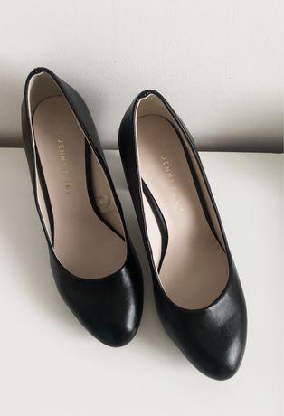 Czarne buty na obcasie Jenny Fairy, rozmiar 38