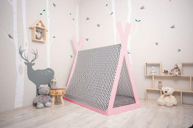 Nowe łóżko domek skandynawski, dziecięce, Apache / Tipi kolor