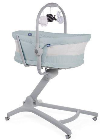 BABY HUG AIR ANTIGUAN SKY 4w1 leżaczek kołyska krzesełko do karmienia