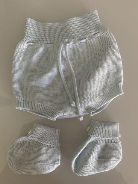 Tapa fraldas e botinhas bebé 1 mês- Maria Malmequer