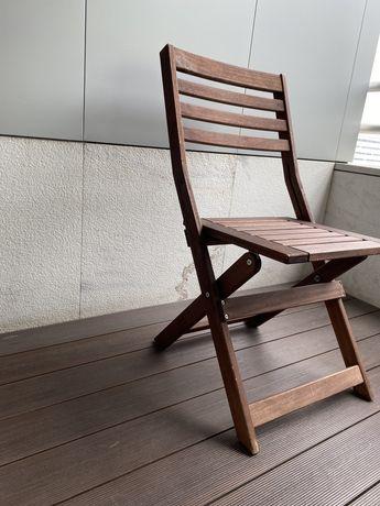Cadeira desdobravel ikea em madeira
