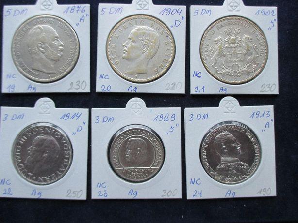 Zestaw srebrnych monet .Oryginały !!! 64
