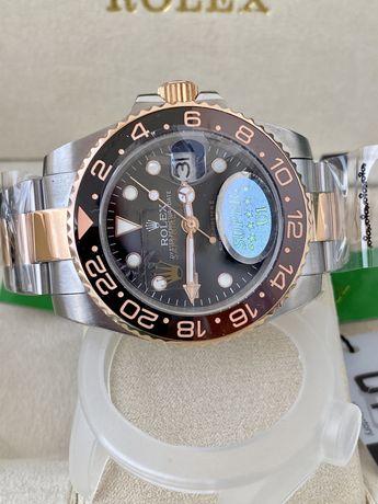 Relogio Rolex GMT II 2x tones Novo