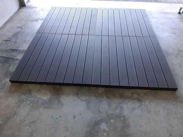 Deck de composite Pavimento para Jardim