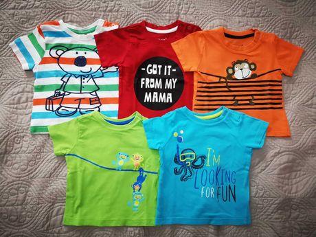 Koszulki na krótki rękaw r. 74 (t-shirt)