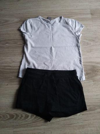 Komplet na w-f koszulka i spodenki r 134