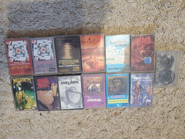 Heavy metal zestaw kaset wydania nieoficjalne.