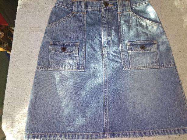 Спідничка джинсова з високою талією