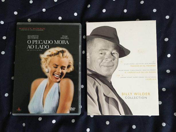 Billy Wilder 4x DVDs O Pecado Mora ao Lado Sabrina Sunset Boulevard