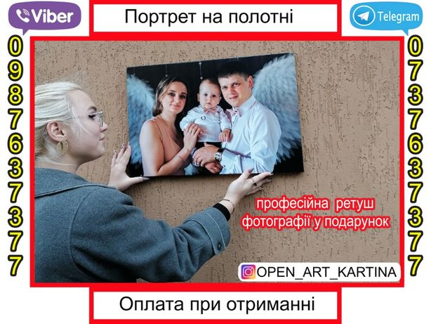 Картина (фото) на холсте. Портрет на холсте. Печать на холсте. Подарок