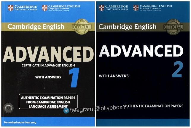 Cambridge English Advanced 1, 2, 3 for Revised Exam from 2015