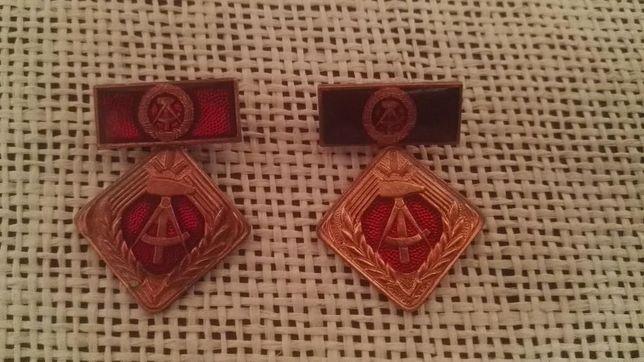 Dwie odznaki DDR