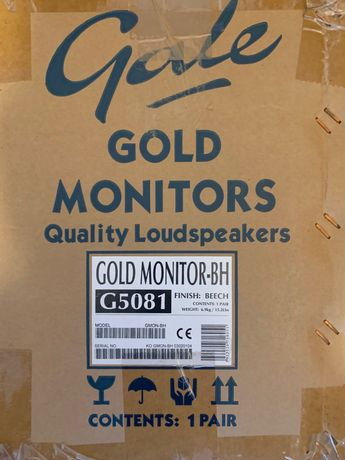 Gale GOLD Monitors BH glosniki G5081 jak nowe w puldeku - Katowice
