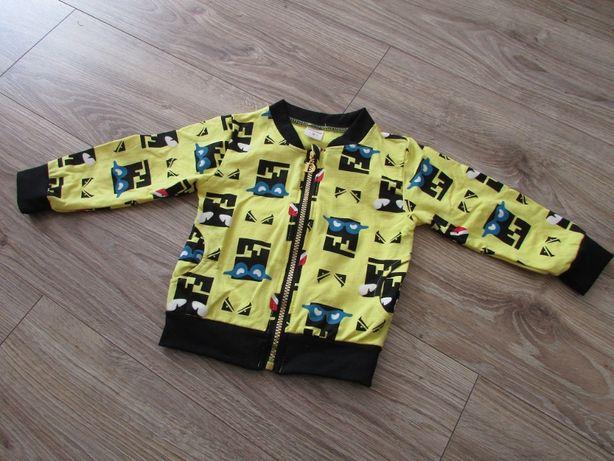 kurtka bomber żółta bawełna rozm 92/98