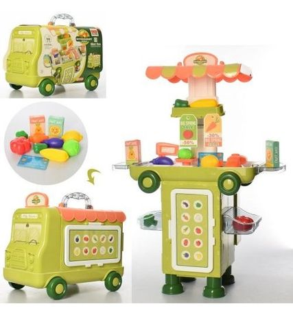 Магазин супермаркет, чемодан-машина,сканер, продукты, 37 предм