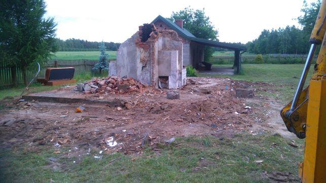 rozbiórka budynków, karczowanie i porządkowanie działek