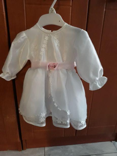 Sukienka sukieneczka do chrztu chrzsciny buciki buty komplet