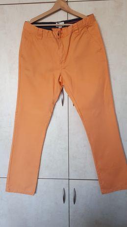 Spodnie jeansy męskie pomarańczowe chino Cubus 34/32 L