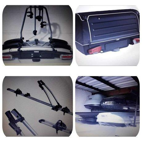 THULE BOX Dachowy bagażnik Uchwyt na hak BOX na hak  rower  Wypożyczam