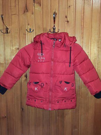 Зимова курточка для дівчинки 116р на 5-6р.