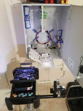 Budowa sieci LAN, spawanie światłowodów, pomiary, KD, CCTV, SSWiN