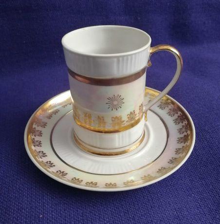 Кофейная, чайная пара. Чашка с блюдцем из сервиза