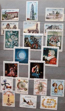 Почтовые марки Куба, СССР, Болгария, Румыния,Польша,Монголия