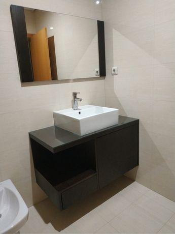 Movel lavatório completo + espelho