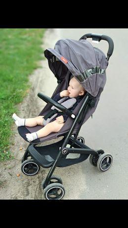 GB Qbit + прогулка каляска тростка  коляска сірого кольору