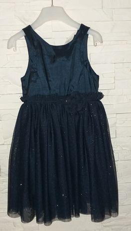 Sukienka elegancka świąteczna h&m r.116
