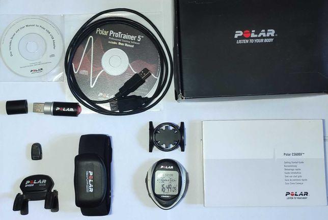 Ciclo-computador Polar CS600x + banda cardíaca + sensor velocidade