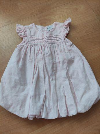Różowa sukienka w groszki 3-6 miesięcy