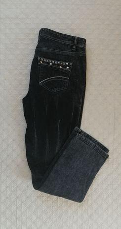 Czarne jeansy Laura Scott L  ćwieki dżety przetarcia