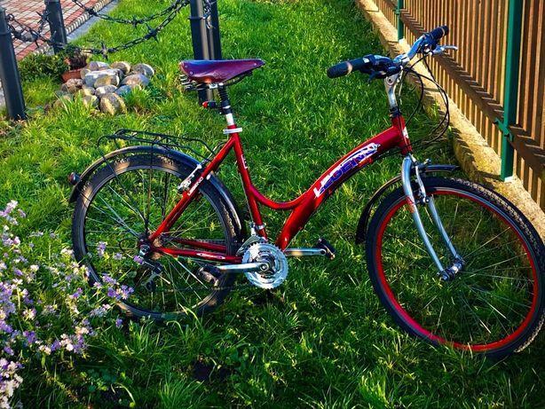 Czerwony rower damka