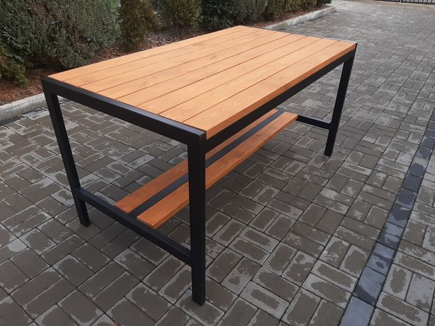 Nowoczesny stół ogrodowy, tarasowy, loft
