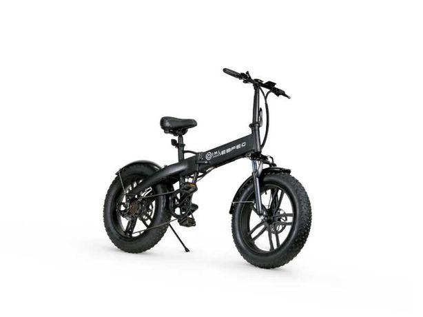 Rower elektryczny składany Fatboy iamelectric grube koła czarny biały