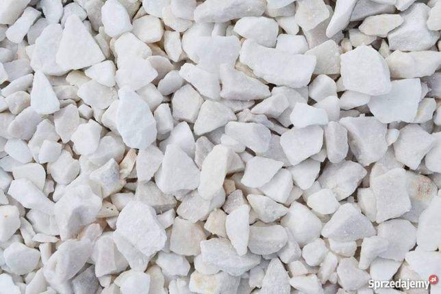 Grys biała marianna 1 GAT 8-16 PLUKANA kremowa biały kamień granit