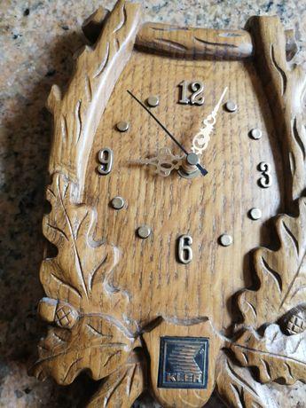 Zegar   dębowy  na ścianę. KLER