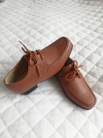 Buty okazjonalne skórzane, eleganckie rozmiar 25/26, dł.wkł. 16.5cm.