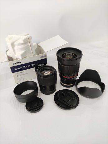 samyang 16mm f/2.0 e sigma 30mm f/1.4 sony e
