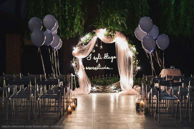 Ledon, napis led, napis 3D, ślub, wesele
