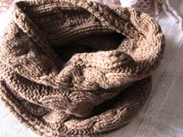 шарфы-снуды из разного материала