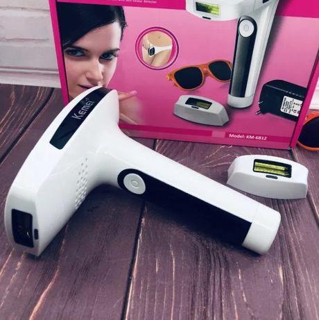 Kemei KM-6812 Лазерный эпилятор для лица и тела, со съёмными кариджам