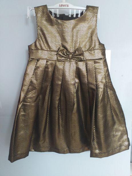 Nowa sukienka mexx , złoto czarna r.98
