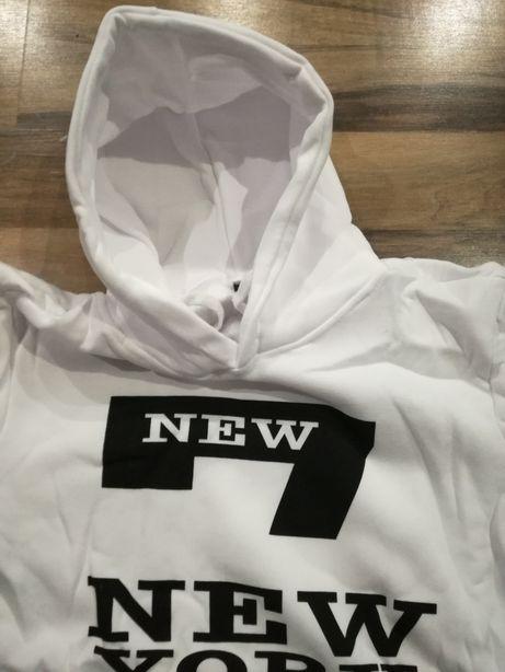 Biała bluza new york