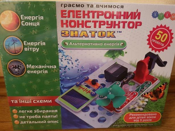 Альтернативная Энергия солнца ветра Знаток конструктор Znatok 50 схем