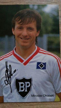 Autograf Mirosław Okoński Reprezentant Polski zdjęcie z Bundesligi HSV