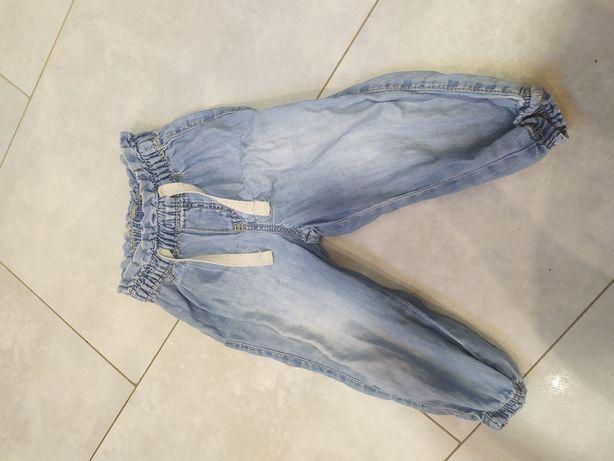 Spodnie jeansy h&m 74