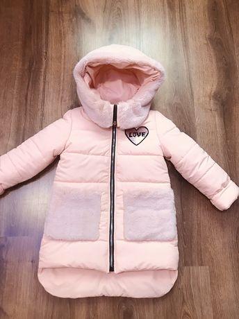 Зимняя куртка для девочки! Куртка детская еврозима