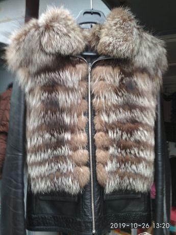 Куртка кожа+мех,демисезонная